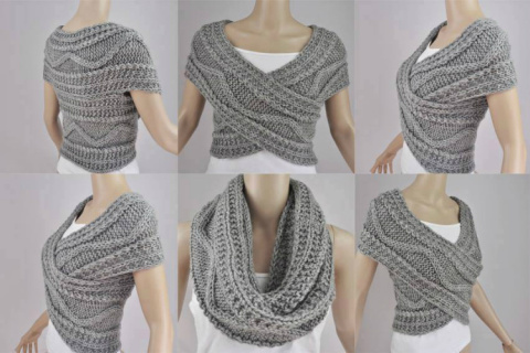 Как связать стильный шарф-трансформер: 2 способа со схемами и описанием