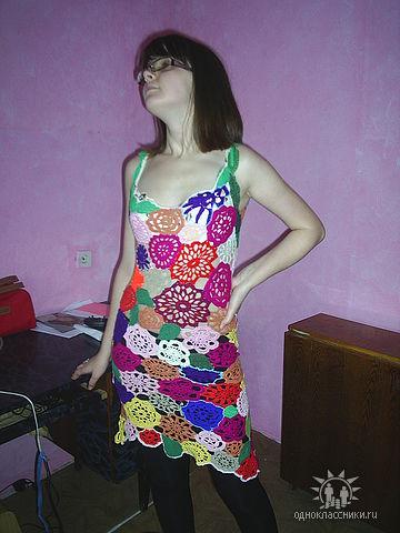 """Платье """"Летние мотивы"""" (крючок)"""
