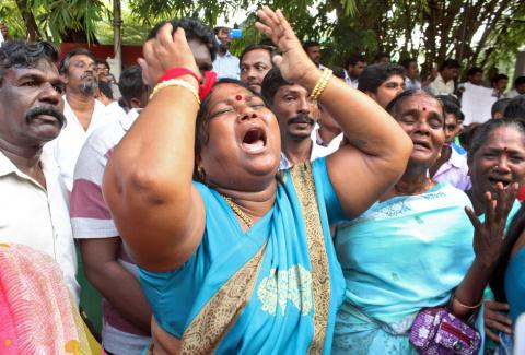 В Индии 470 человек погибли от горя