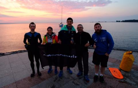 На набережной столицы Карелии завершился марафонский заплыв Петрозаводск - Кижи - Петрозаводск