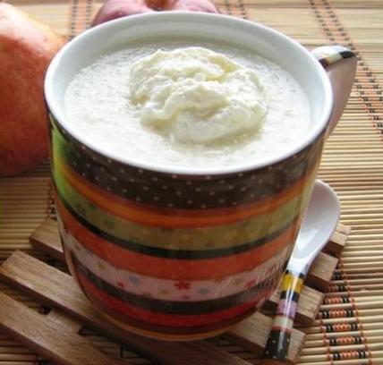 Яблочно-молочный кисель со сливками