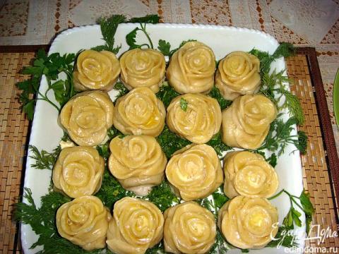 Ленивые пельмени в виде роз - просто и быстро! Как сделать украшения из овощей