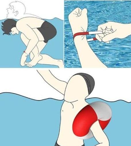 Спасательный браслет не позволит утонуть