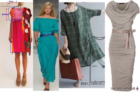 Шьем простые платья - памятки, советы, выкройки