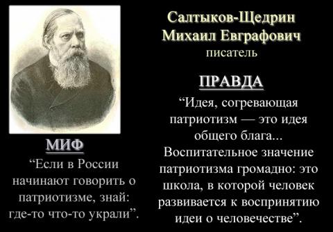Салтыков-Щедрин о патриотизме