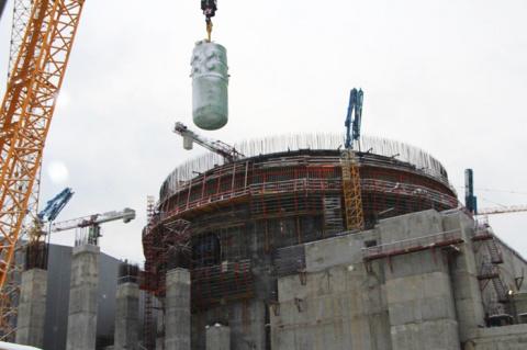 Ленинградская АЭС-2: корпус реактора строящегося блока №2 успешно установлен на штатное место