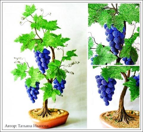 Виноградная лоза из бисера - простой МК. Вяжем варежки: 8 мастер-классов для начинающих