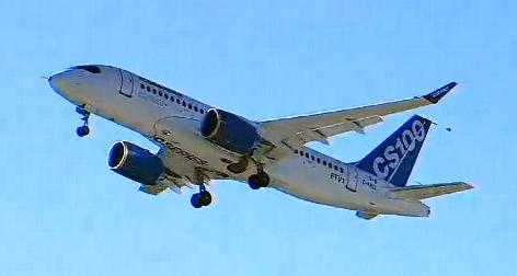 Первый полет Bombardier CSeries100. Вот и братишка суперджета полетел...