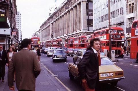 Лондон в 1970-х годах на фотографиях неизвестного американского туриста