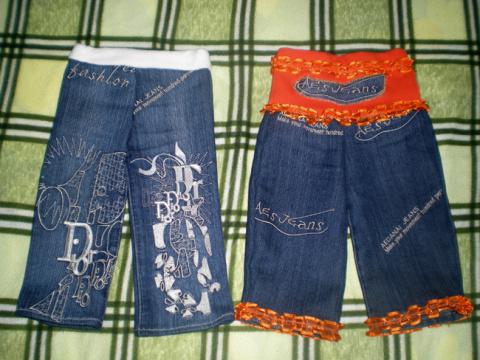 Как самостоятельно сшить ребёнку джинсовые штанишки.