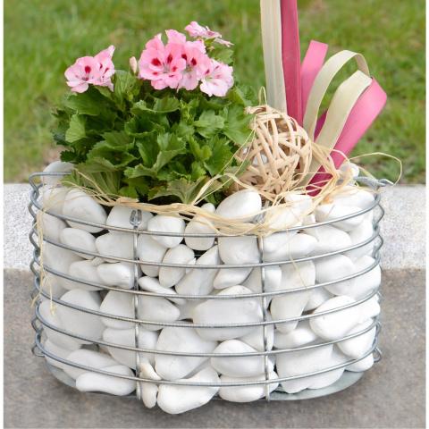 Идеи габионов — необычных цветникков из сетки и камня