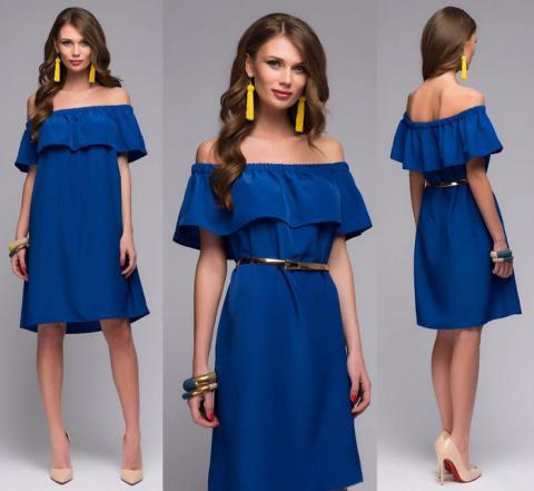Как сшить платье или блузу с оборкой на регилине
