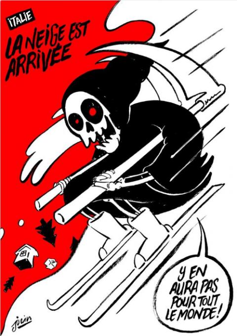 Власти итальянского города подали в суд на Charlie Hebdo за карикатуру