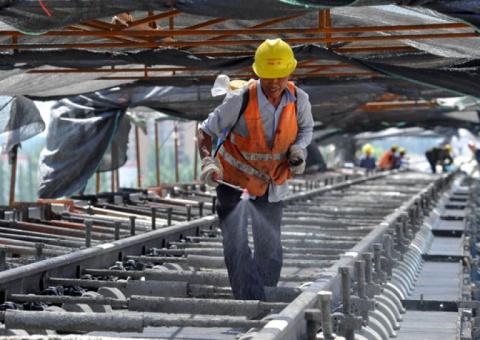 Строительство моста в Китай …