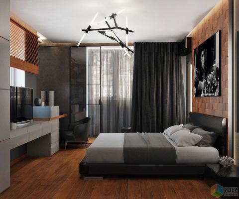 Дизайн спальни: Деревянные в…