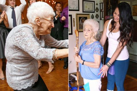 Эта 85-летняя старушка была …