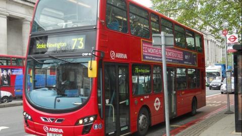 В Лондоне автобусы переводят…