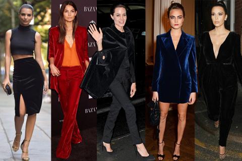Тренды: как и с чем носить бархатные вещи