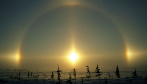 Сразу три солнца запечатлели в Карелии