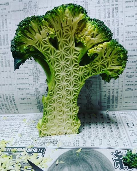 Узоры на овощах и фруктах