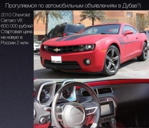 Цены на б/у авто в Дубае