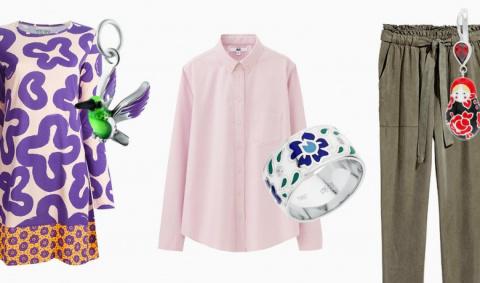 Одежда с принтами +  украшения с эмалью