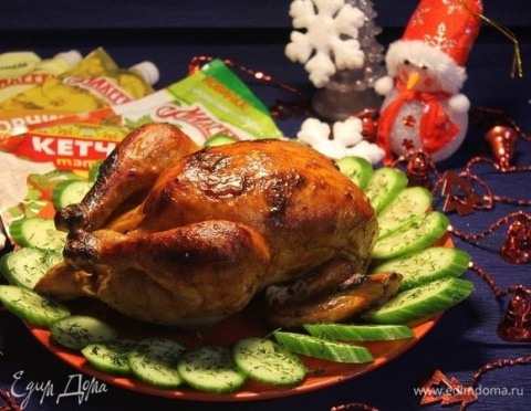 Запеченная курица «Новогодня…