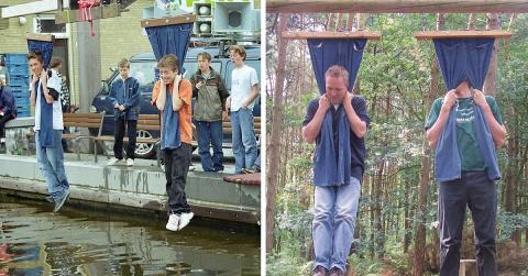 Странная голландская забава: зависание на штанах