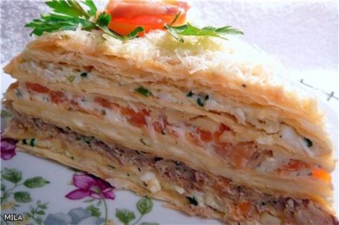 """Торт """"Закусочный наполеон"""""""