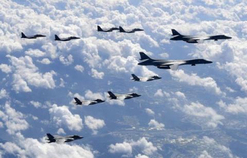 Бомбардировщики США пролетел…