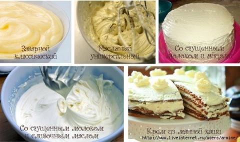 5 самых простых кремов для тортов и других десертов! Хозяйке на заметку !!!