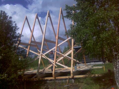 Как я построил дом в саду...