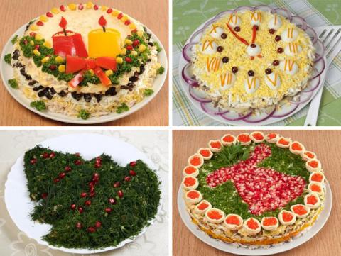 8 нарядных салатов к новогод…