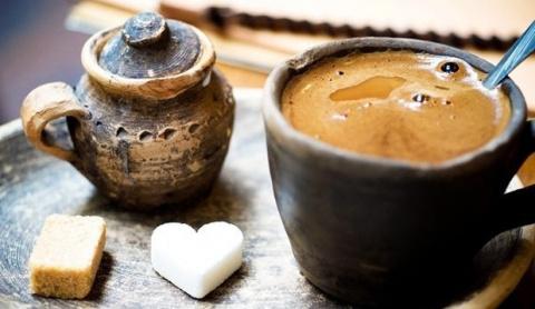 Сделайте вкусный кофе визитн…