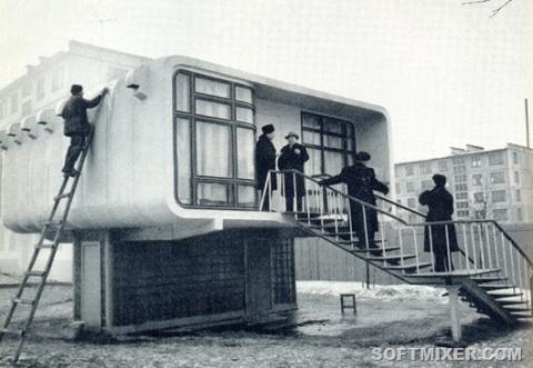 Пластмассовый дом в Ленинграде