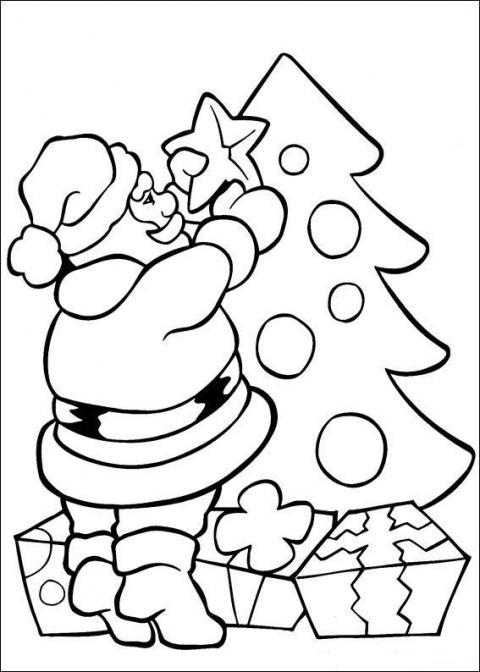 Чем занять детей? - рождественские раскраски