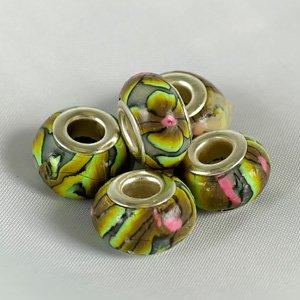 Бусины керамические с рисунком арт. PN-X 84 уп.10шт
