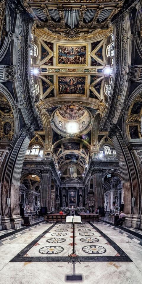 Шедевры архитектуры в потрясающих вертикальных панорамах Andrea Facco