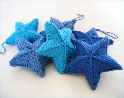вязаные звезды