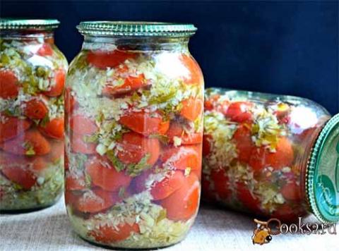 Маринованные помидоры с хреном