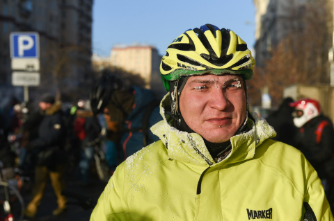 Велопарад в Москве при -27 !