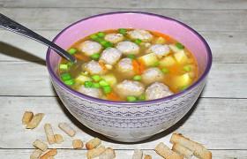 Фасолевый суп с фрикаделькам…