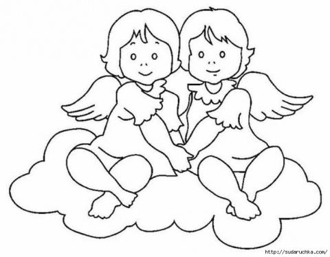 Трафареты - Ангелы.