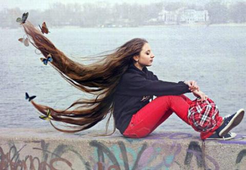 Фотографии девушек с длинными волосами