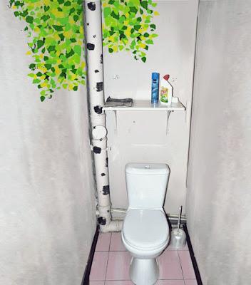 Как замаскировать трубы в туалете?