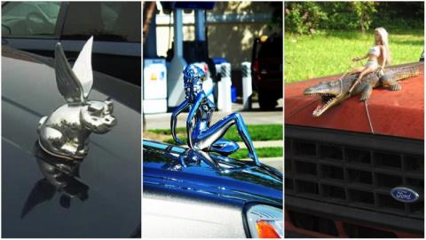 Фигурки на капоте как особый вид автомобильного искусства (26 фото)