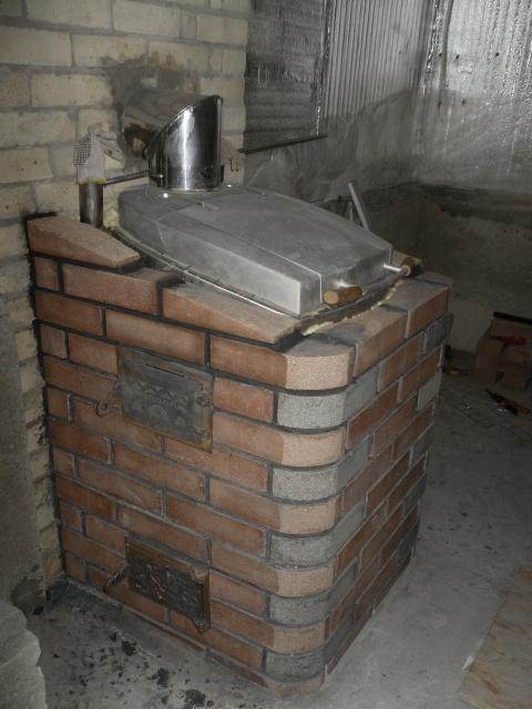 Установка металлической печи для режимов русской бани. ( часть 2)