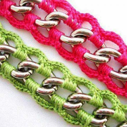 обвязка металлической цепочки