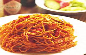 Паста с томатным соусом и кабачковой икрой – рецепт с фото