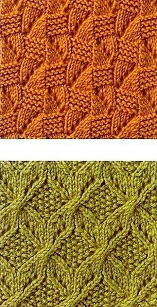 Два оригинальных узора для вязания спицами